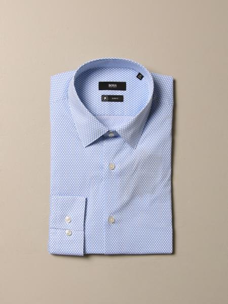 Camicia Boss a fantasia con collo italiano