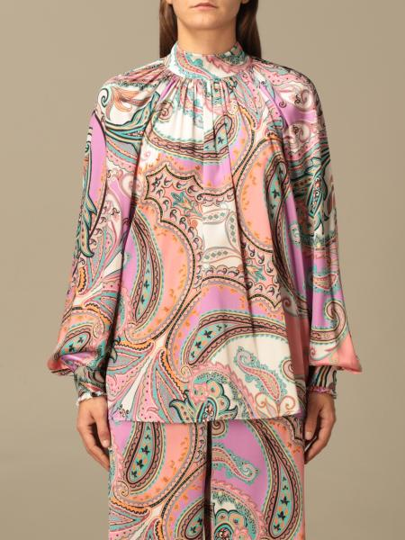 Blumarine: Blumarine blouse in patterned silk
