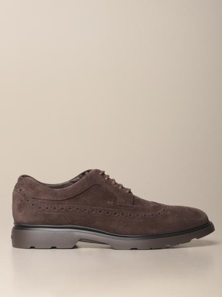 H393 Hogan derby in suede