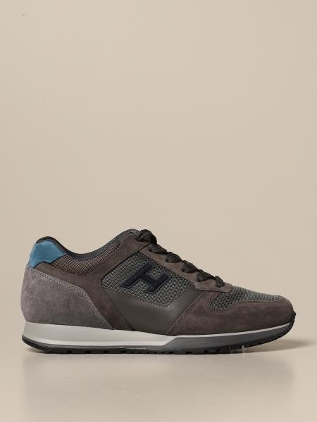 Hogan men: H321 Hogan sneakers in suede and micro mesh with H flock