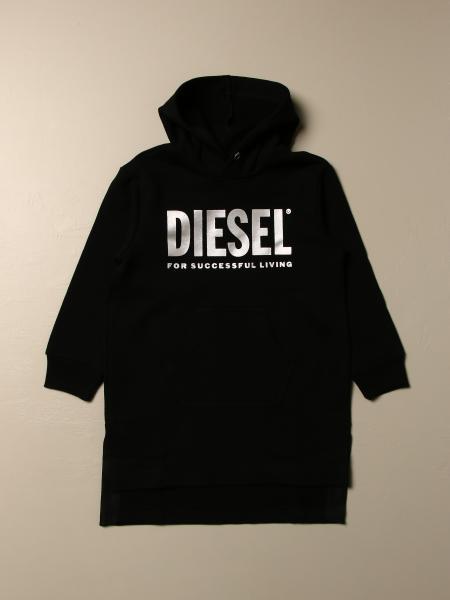 Abito a felpa Diesel in cotone con logo