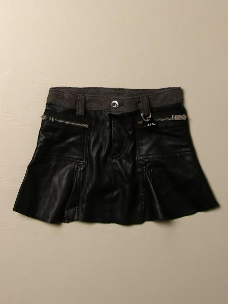 Diesel mini skirt in synthetic leather