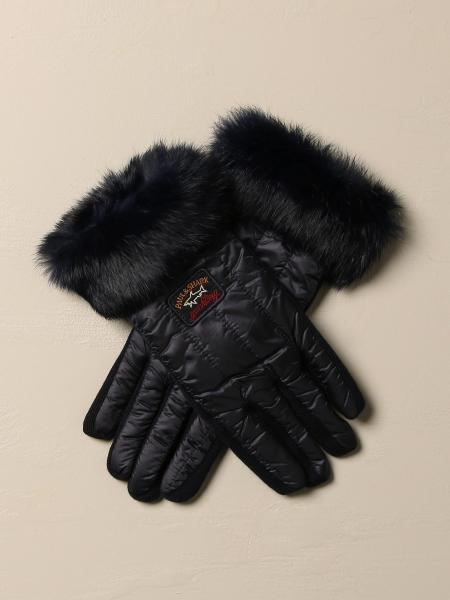 Paul & Shark gloves in nylon and synthetic fur