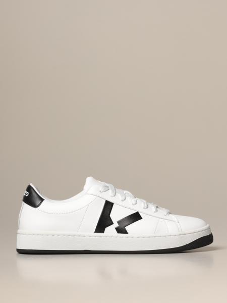 Kenzo: Kourt Tiger Kenzo leather sneakers