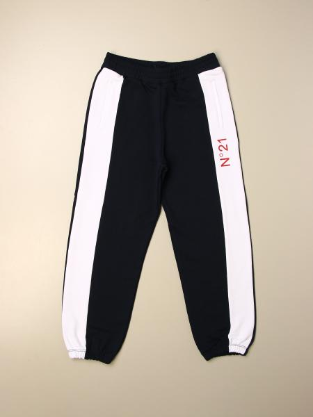 N ° 21 jogging trousers in cotton with bands