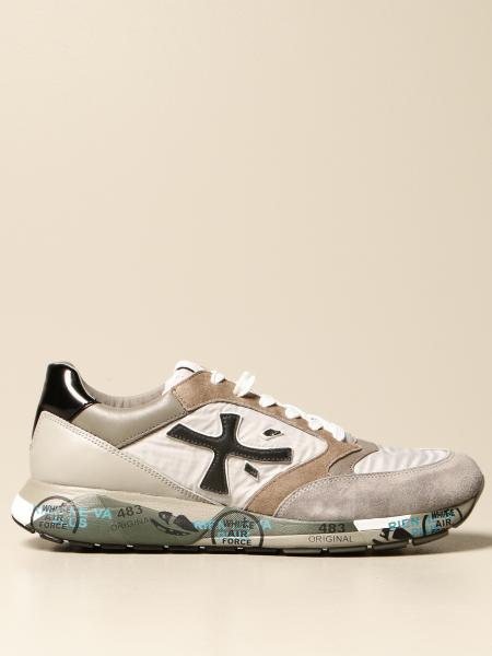 Premiata men: Zac-zac Premiata sneakers in suede and nylon