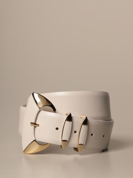 Cintura Alberta Ferretti in pelle con maxi fibbia