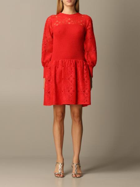 Alberta Ferretti short bi-material dress