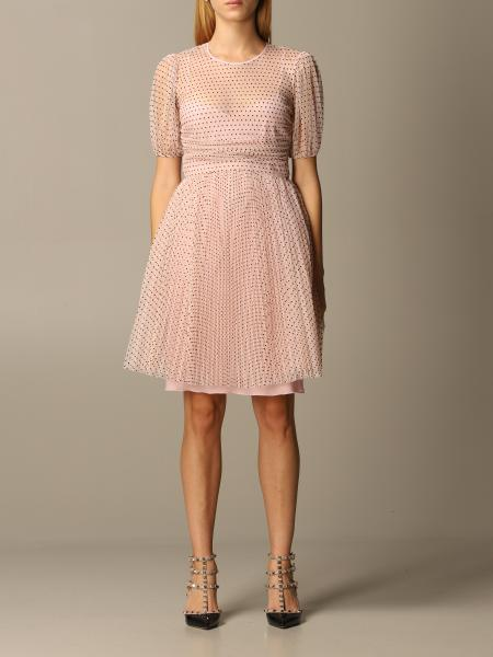 Abito Red Valentino in tulle point d'esprit