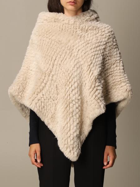 Soft Liu Jo poncho with hood