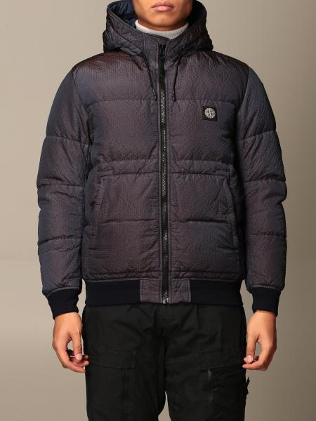 Stone Island men: Stone Island padded and quilted down jacket