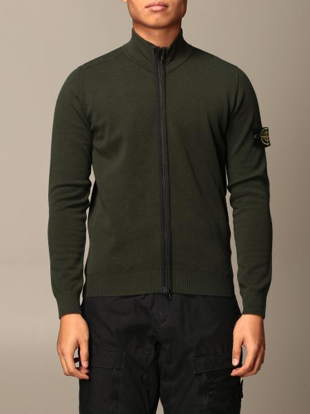 Stone Island men: Stone Island cardigan in cotton with zip