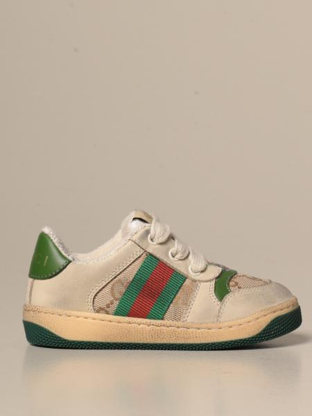 Gucci Screener sneakers in suede and GG Supreme fabric