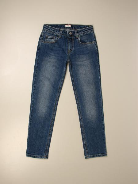 Pinko kids: Pinko jeans in used denim