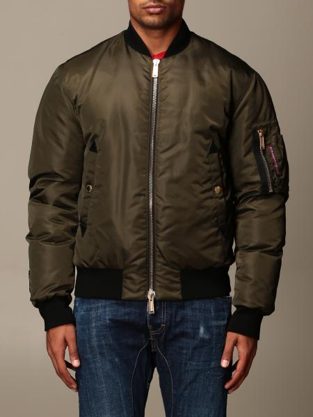 Dsquared2 nylon bomber jacket with back logo