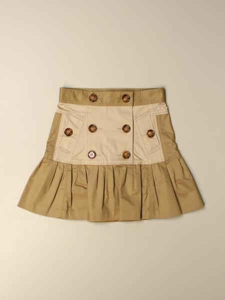 Burberry kids: Burberry double-breasted cotton skirt