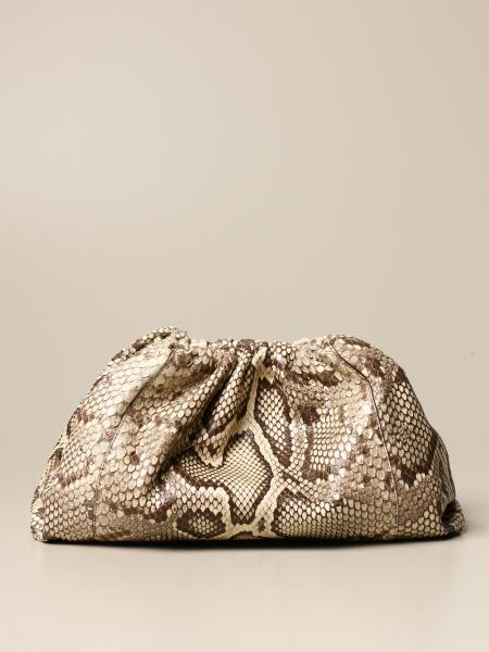 Bottega Veneta The pouch 蟒蛇纹皮革手包