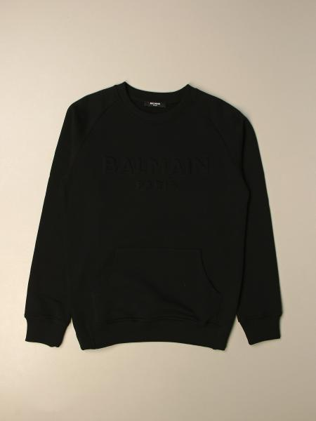 Balmain: Balmain basic crewneck sweatshirt with logo
