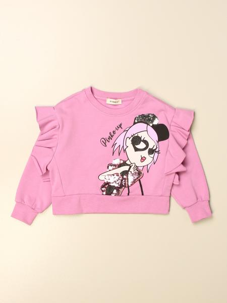 Pinko kids: Pinko cropped sweatshirt with print