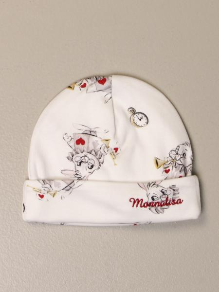 Monnalisa hat in cotton with white rabbit print