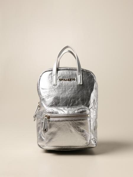 Twin-set backpack in laminated synthetic leather