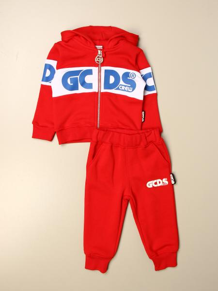 Gcds kids: Complete sweatshirt + trousers with logo Gcds