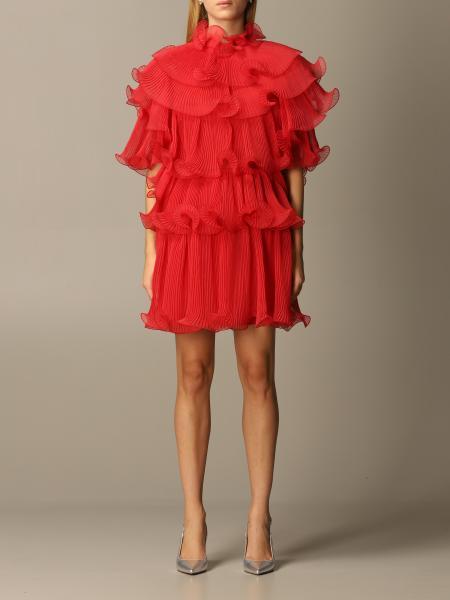 Alberta Ferretti silk dress with rouches