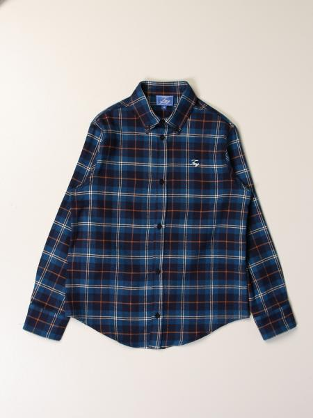 Fay shirt in tartan wool blend