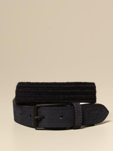 Fay belt in suede with woven detail