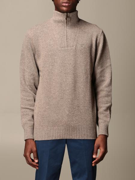 Barbour: Barbour pullover in wool with zip