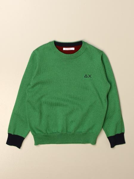 Sun 68: Sun 68 crewneck sweater in cotton with logo