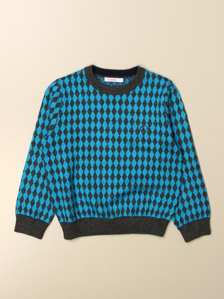 Sun 68: Sun 68 crewneck sweater in patterned cotton