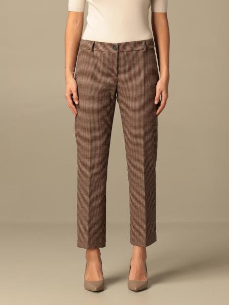 Semicouture: Semicouture classic trousers with micro pattern