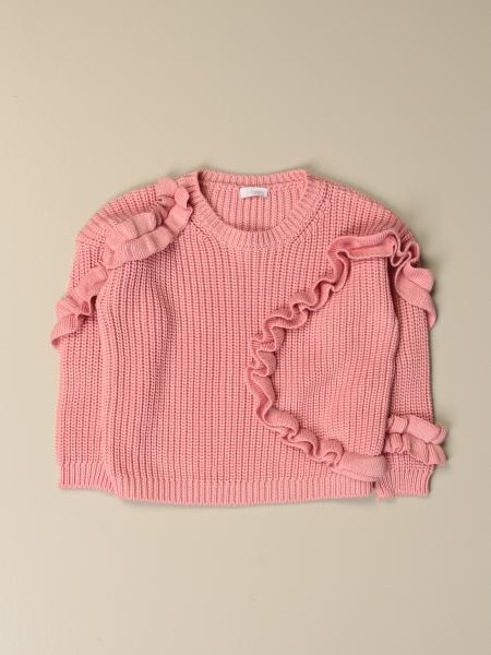 Il Gufo: Il Gufo crewneck sweater with rouches