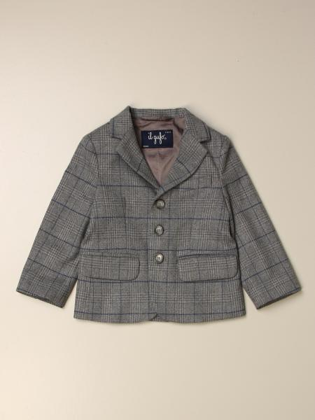 Il Gufo single-breasted check jacket