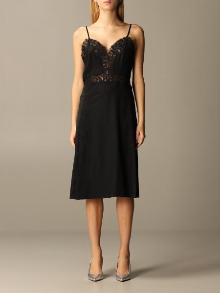 Alberta Ferretti lingerie dress in silk and lace