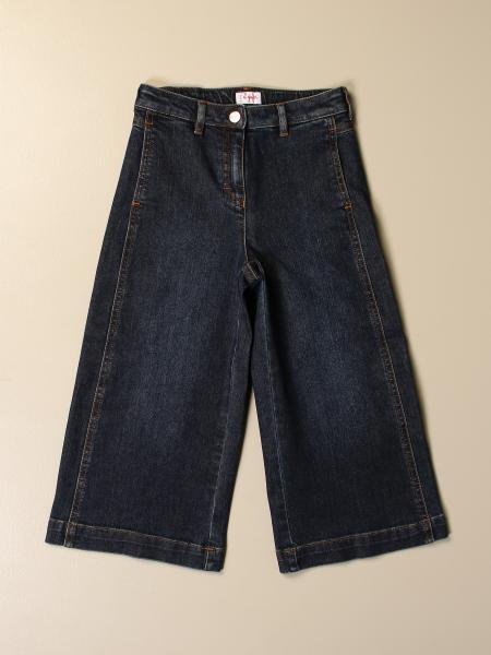 Jeans Il Gufo ampio in denim used
