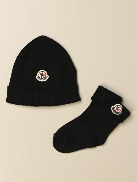 Set cappello + calzini Moncler con logo