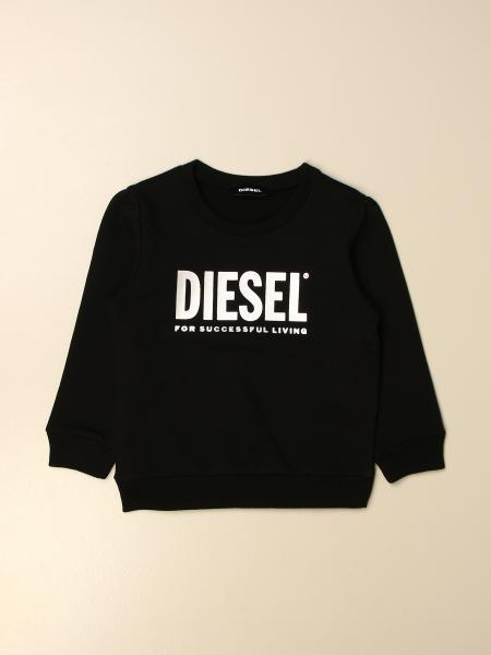 Diesel sweatshirt in cotton with laminated logo