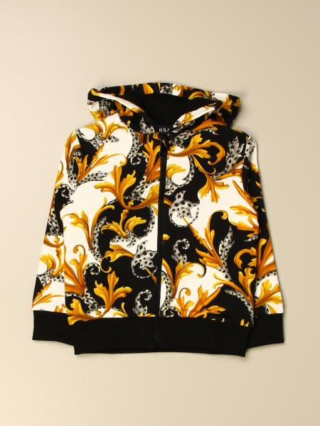Versace Young sweatshirt in cotton with baroque print