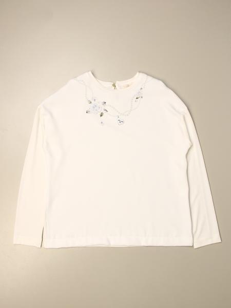 Monnalisa T-shirt with floral print