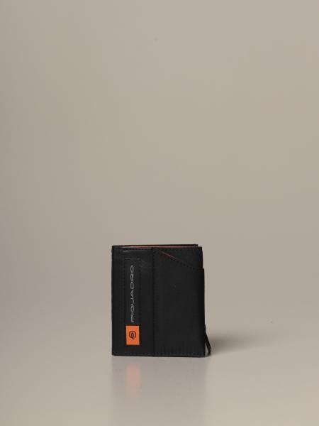 Portafoglio PQ-Bios Piquadro in nylon compatto super sottile