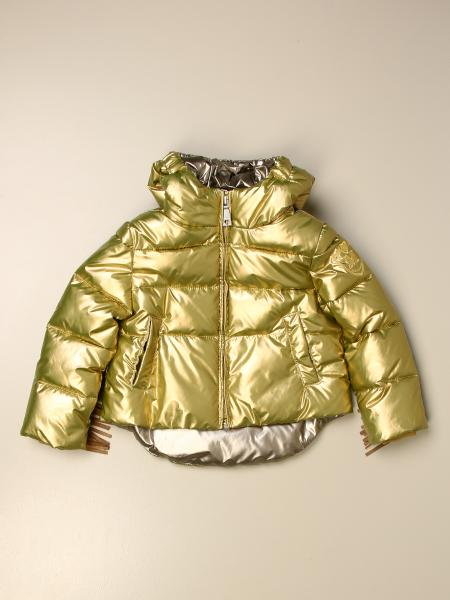Monnalisa jacket in laminated nylon