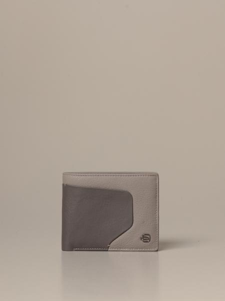Piquadro: Akron Piquadro leather wallet with coin pocket
