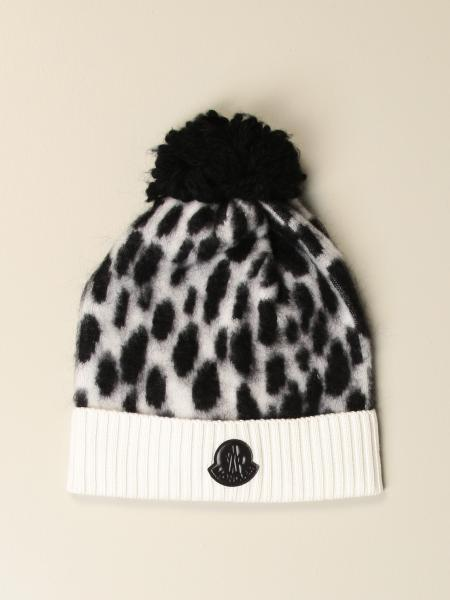 Patterned Moncler beanie hat