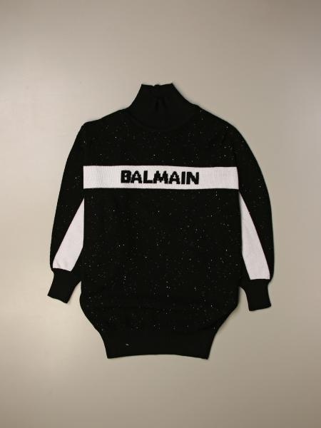 Balmain: Balmain sweater dress with logo