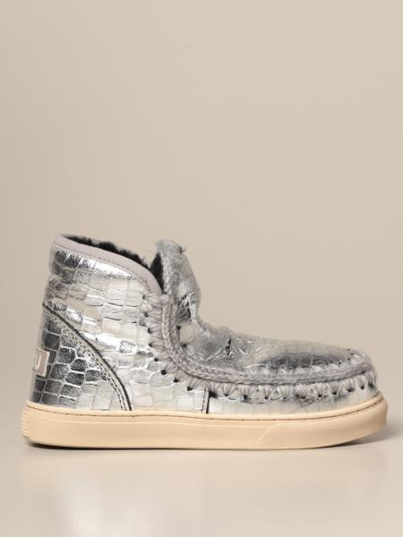 Stivaletto Eskimo Sneakers Mou in pelle laminata stampa cocco