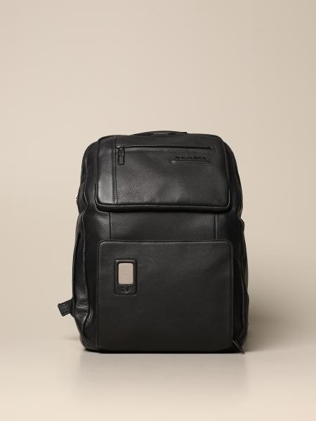Akron Piquadro large and customizable fast-check backpack