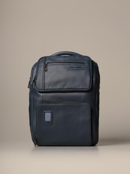 Piquadro: Akron Piquadro large and customizable fast-check backpack