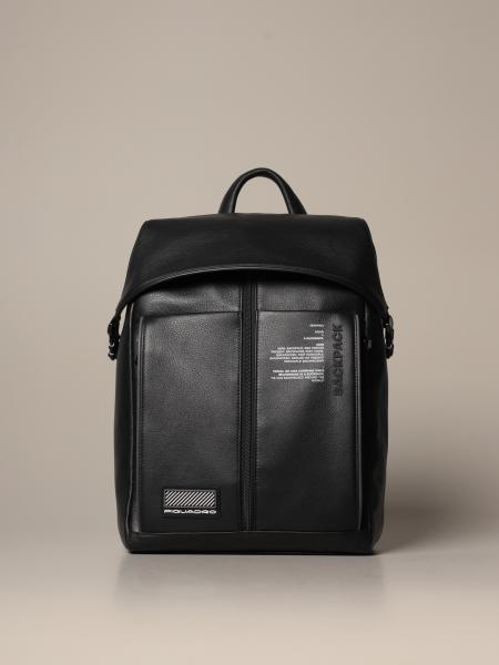 Piquadro: Piquadro large backpack in grained leather